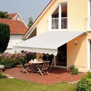 #1 Outsunny 8' x 7' Patio Retractable Awning
