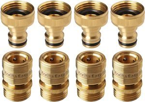 #1.GORILLA Garden Hose Easy Quick Connect Fittings, Solid Brass