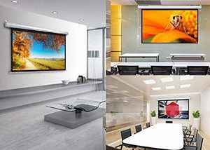 #3.Motorized Projector Screen HD Indoor and Outdoor Portable Electric
