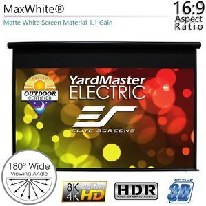 #5.Elite Screens Yard Master, Motorized Projector Screen 150 inch
