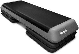 #6. Yes4All Adjustable Step Platform Aerobic with 4 Risers Gym