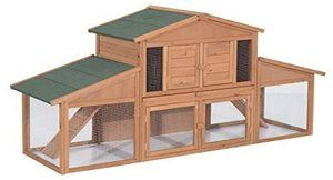 #8 Pawhut 91 Deluxe Wooden Large Bunny Rabbit Hutch