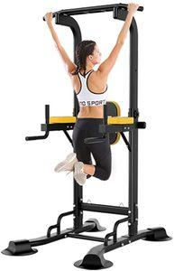 #8. Diophros Power Tower Adjustable Pull Up Bar