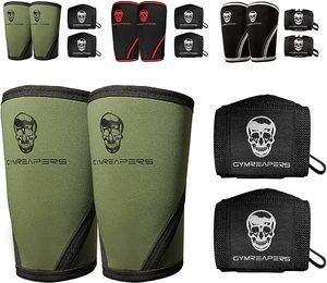 #5. Gymreapers Elbow Sleeves with Wrist Wraps