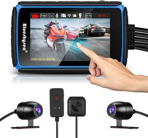 #7. Blueskysea Wide Angle Motorcycle Dash Cams