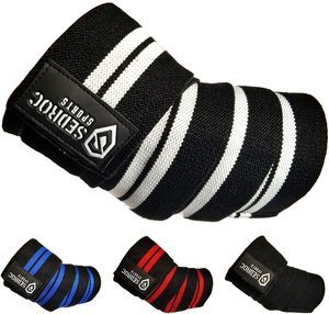#7. Sedroc Sports Weightlifting Elbow Wraps