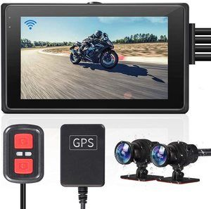 #8. VSYSTO 2-Channel Motorcycle Dash Cams