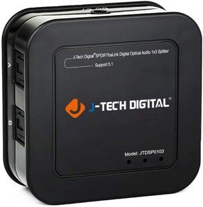 #1. J-Tech Digital SPDIF TOSLINK Optical Premium Quality