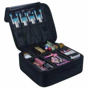 #1. Relavel Travel Makeup Train Case Makeup