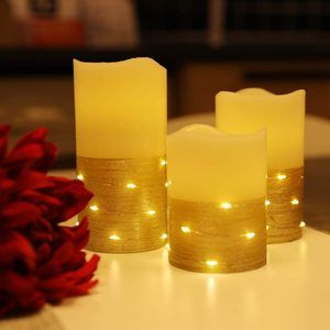 #10. Flickering LED Flameless Candles with Timer