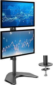 #10. HUANUO Non-drill Dual Monitor Stands