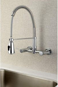 #10. Kingston Wall Mount Faucet with Sprayer