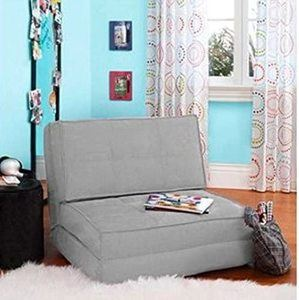 #2. Your Zone Convertible Flip Chair ( Gray )