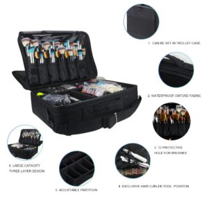 #3. Relavel Professional Makeup Train Case Cosmetic