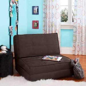 #3. Your Zone Convertible Flip Chair ( Brown New Color )