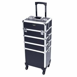 #5. Mefeir 4-in-1 Rolling Makeup Train Case
