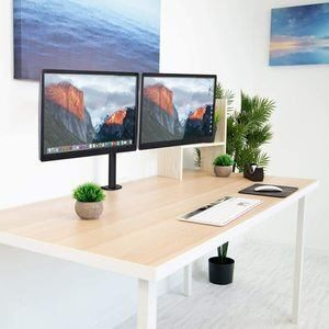 #5. Mount-it! Monitor Stand with Cable Management