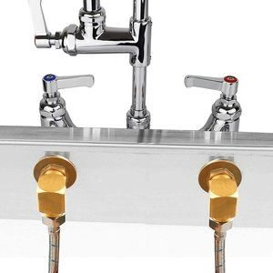 #6. YG YouGao Wall Mount Faucet with Sprayer