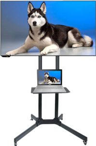 #7. Husky Products Rolling TV Stands for Flat Screens