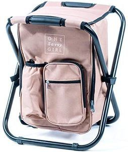 #9. One Savvy Girl backpack chair for outdoors