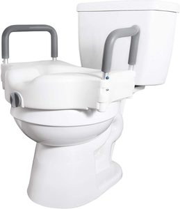 #1. Vaunn Medical Elevated Raised Toilet Seat