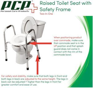 #4. PCP Raised Toilet Seat