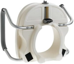 #5. Carex E-Z Lock Raised Toilet Seat