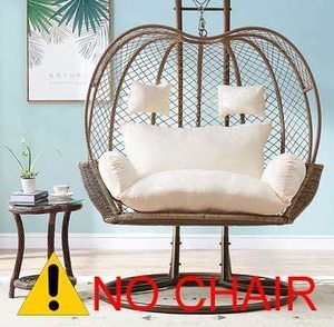 #4. Thick Balcony Oversized Egg Nest Chair 2 Persons
