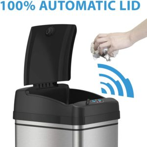 #11 iTouchless 13-Gallon Automatic Trash Can