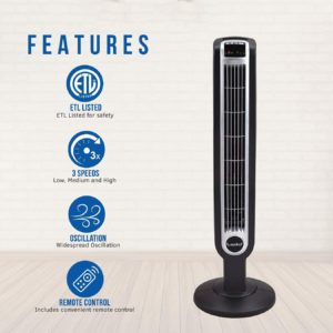 #3 Lasko 2511 36″ Tower Fan