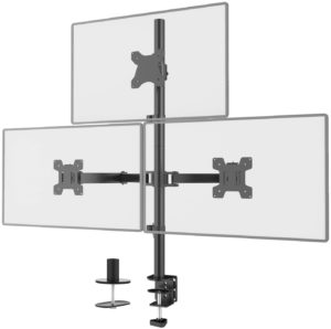 #4. WALI Triple LCD Monitor Stand Fully Adjustable Desk Mount