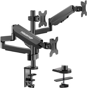 #5. MOUNTUP 3 Monitor Stand Mount - for Screens Up to 27 inches