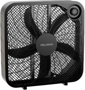 #6 PELONIS 3-Speed Box Fan