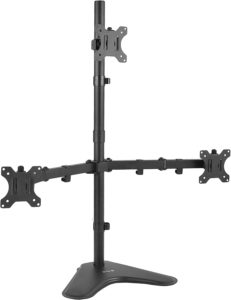 #9. VIVO Triple Monitor Desk Stand, LCD LED Free Standing