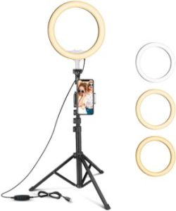#10. 10-inch Selfie Ring Light- 2 Phone Holders