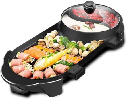 #10. SEAAN Electric Grill Hot Pot Multifunctional