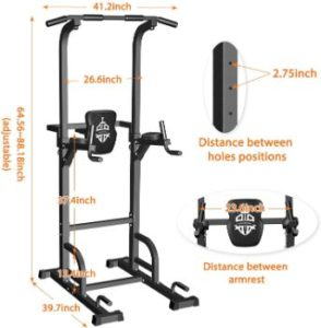#2. Sportsroyals Power Tower Pull Up Bar Dip Station