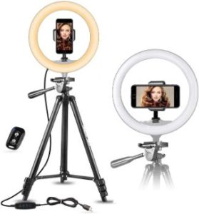 #3. 10 Selfie Ring Light with Tripod Stand