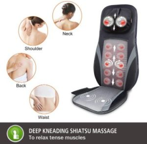 #4. SNAILAX Shiatsu Deep Kneading Back Massager