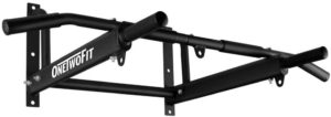 #4.ONETWOFIT Pull Up Bar Wall Mounted with 6-Hole Design