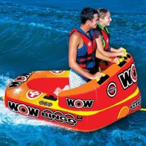 #5 WOW World Bingo Inflatable Towable Tube, Secure Cockpit Front