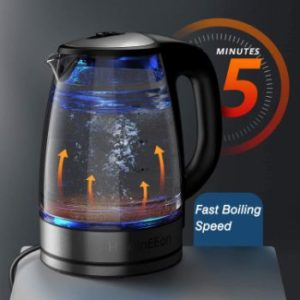 #6. HadinEEon Variable Temperature 1200W Electric Kettle