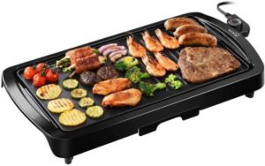 #6. IKICH Electric Grill 2-in-1 Indoor Pancake Griddle Smokeless