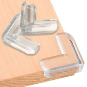 #7. SurBaby L-Shaped Corner Protector Clear High