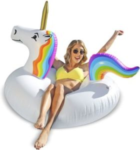 #9 GoFloats Unicorn Pool Float Party Tube - Inflatable Rafts, Adults & Kids