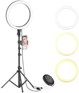 #9. 10 Selfie Ring Light with Stand for Live Stream