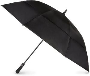 #9. Totes Automatic Open Vented Canopy Extra Large Black Golf Stick Umbrella