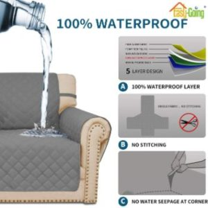 #1. Easy-Going Waterproof Sofa Slipcover Couch Cover