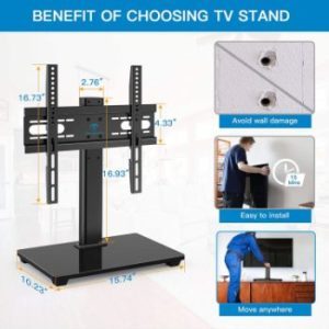 1. PERLESMITH Universal TV Stand with Mount