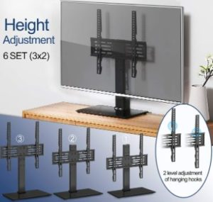 2. FITUEYES TT103701GB Universal TV Stand with Mount